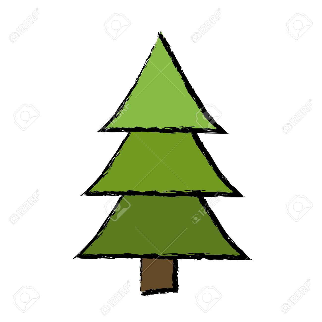 1300x1300 How To Draw Pine Trees Step