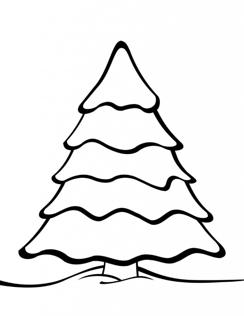 791x1024 Christmas Tree Drawing Template