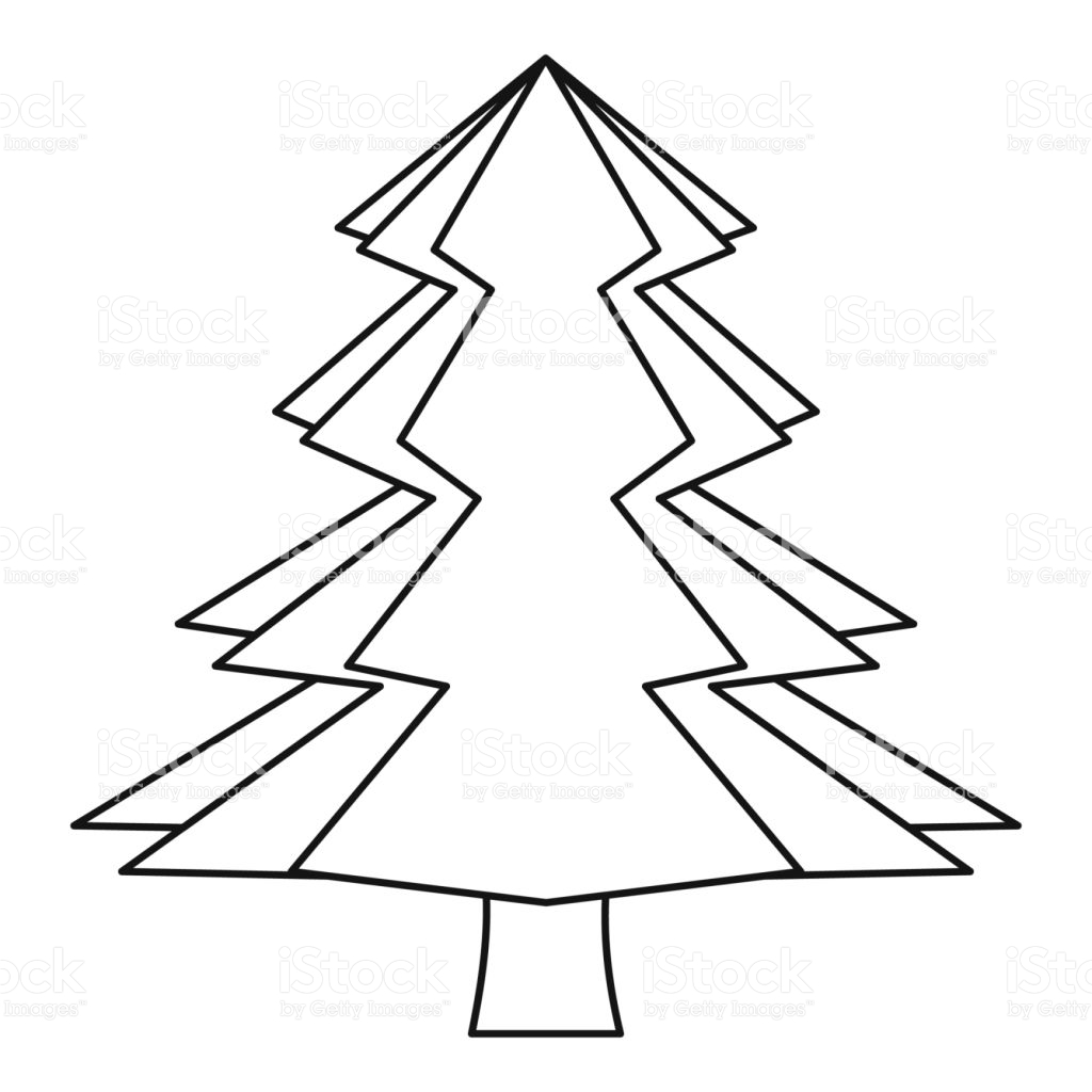 1024x1024 Coloring Pages Evergreen Trees