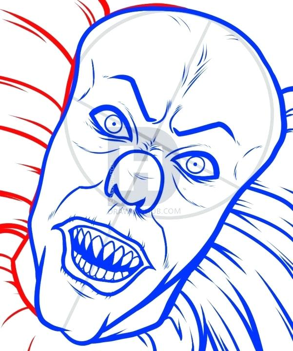 601x720 drawing of a clown evil clown drawing clown skull zupa