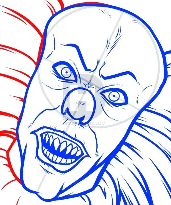 601x720 drawing of a clown evil clown drawing clown skull zupa