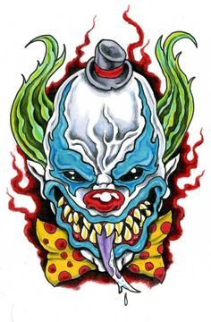 236x360 best clown images in evil clowns, clown faces, clown tattoo