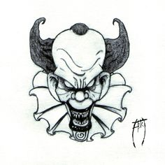 236x236 best clown images evil clowns, scary clown drawing, clown tattoo