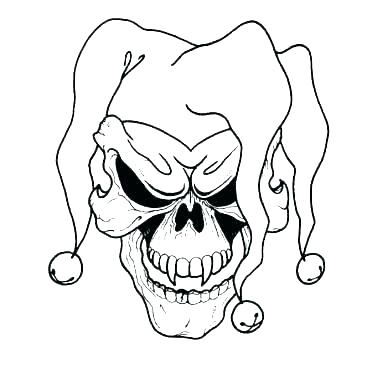380x380 clown pictures to color evil clown coloring pages clown colouring
