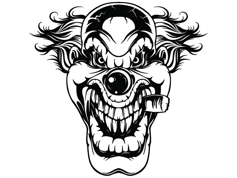 798x600 evil clown skull death evil kill killer tattoo circus scary etsy