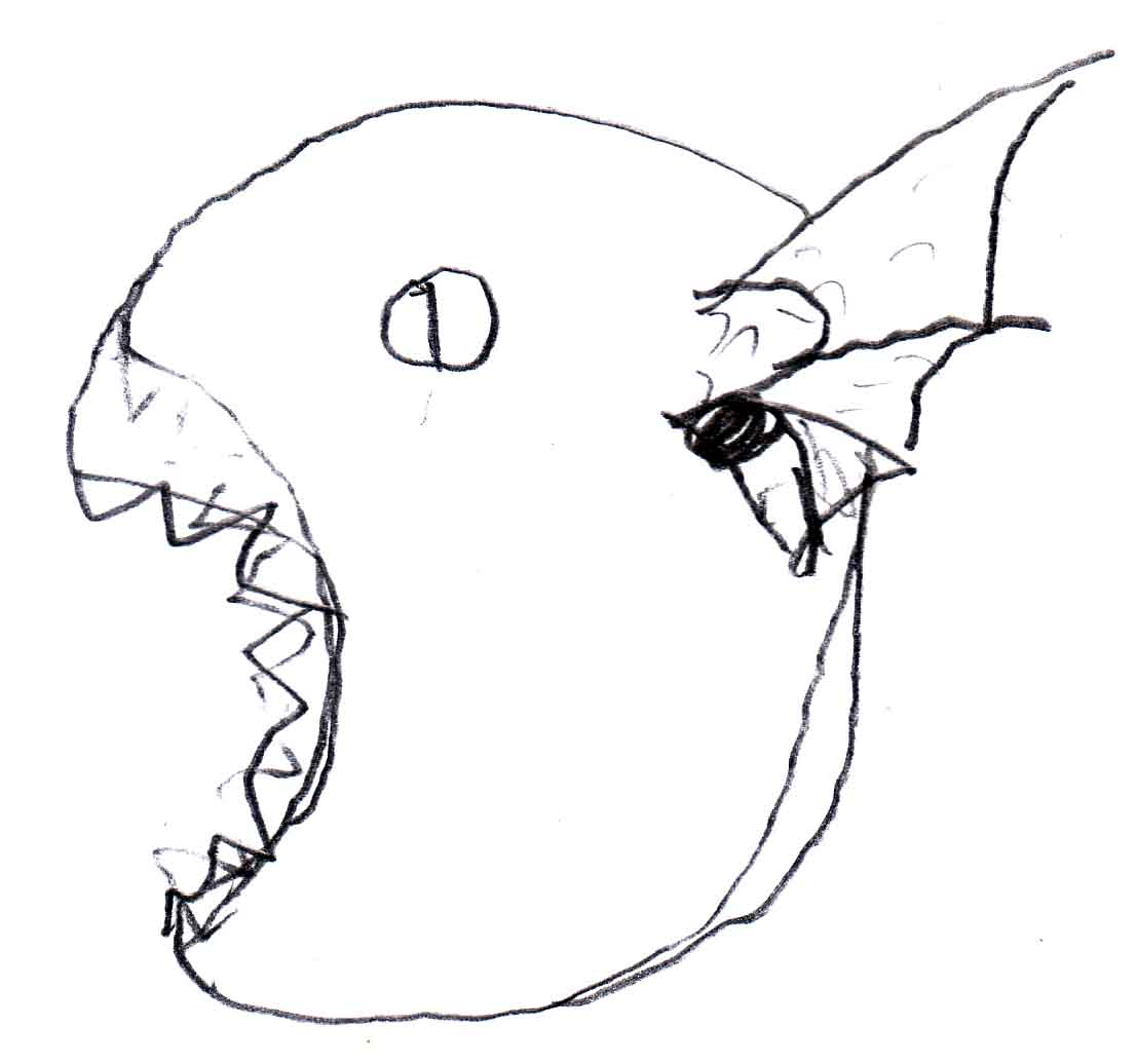 Evil Dragon Drawing