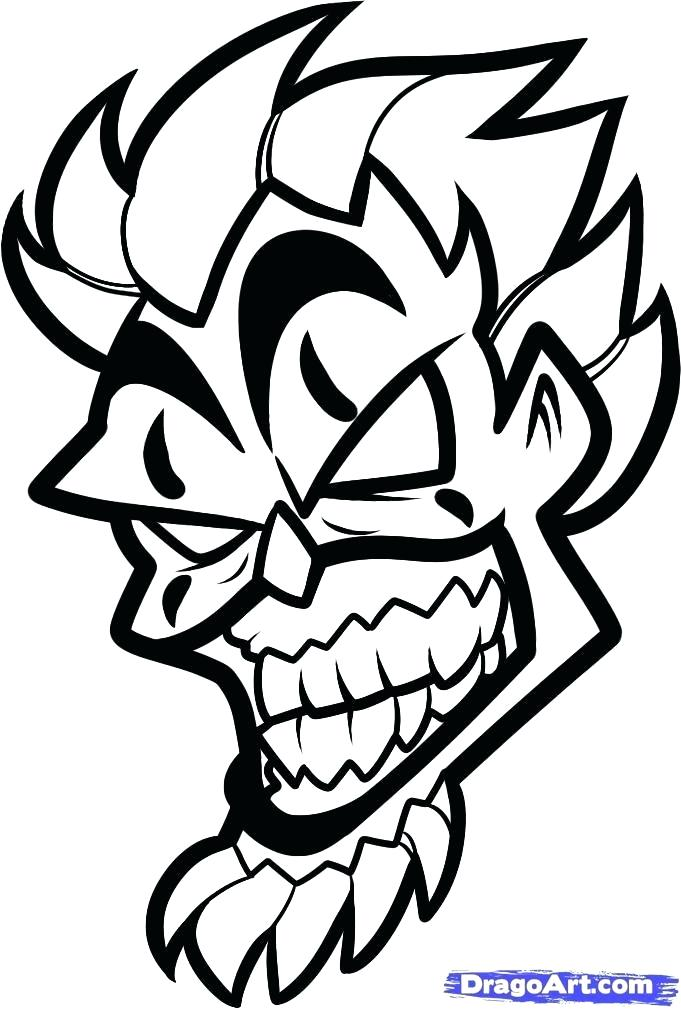 681x1009 how to draw an evil clown evil clown drawings step draw scary