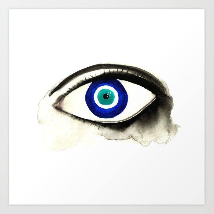 700x700 Evil Eye See You Art Print
