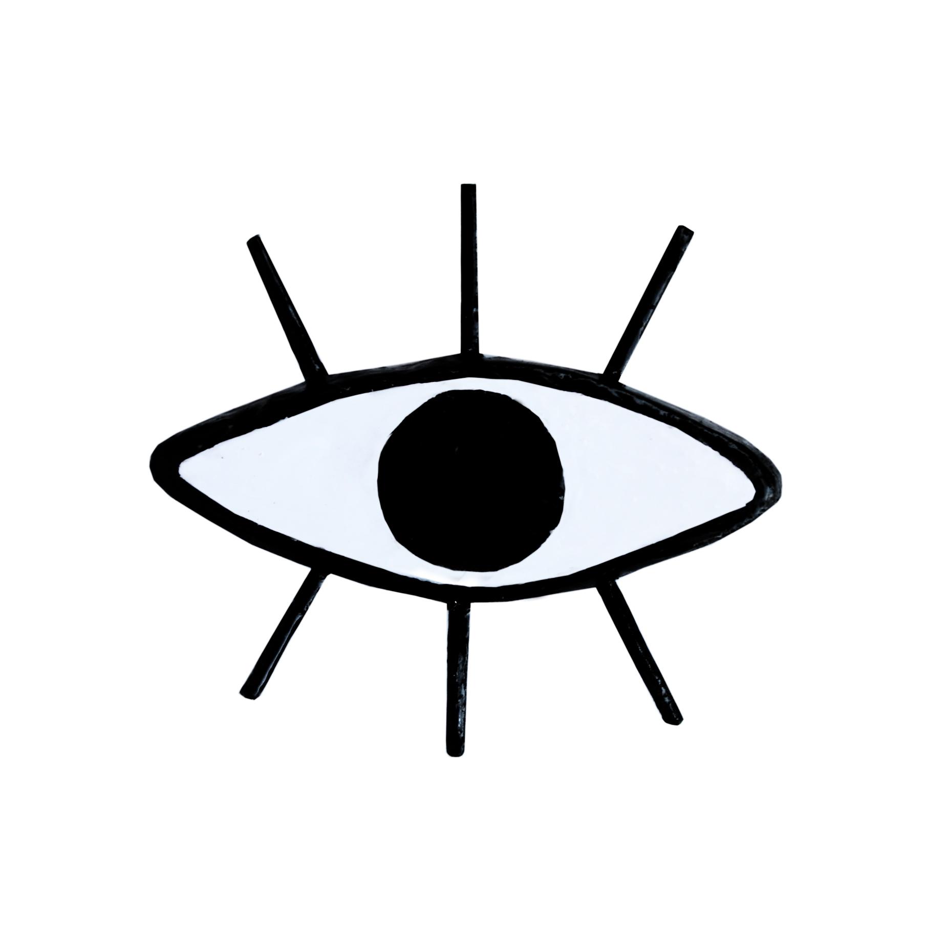 1848x1848 Style Evil Eye Pin Brooch Black