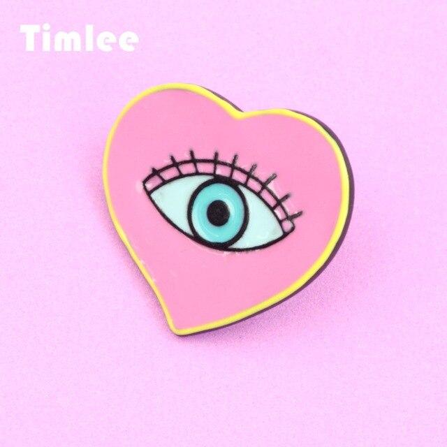 640x640 timlee heart enamel pins evil eye alloy brooch pins,fashion