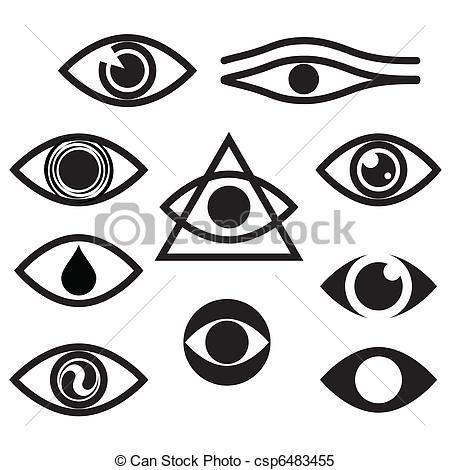 450x470 Clipart Vector Of Eye