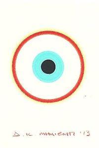 200x300 Dimitris C Milionis Greek Evil Eye Signed Pigment Inks Drawing