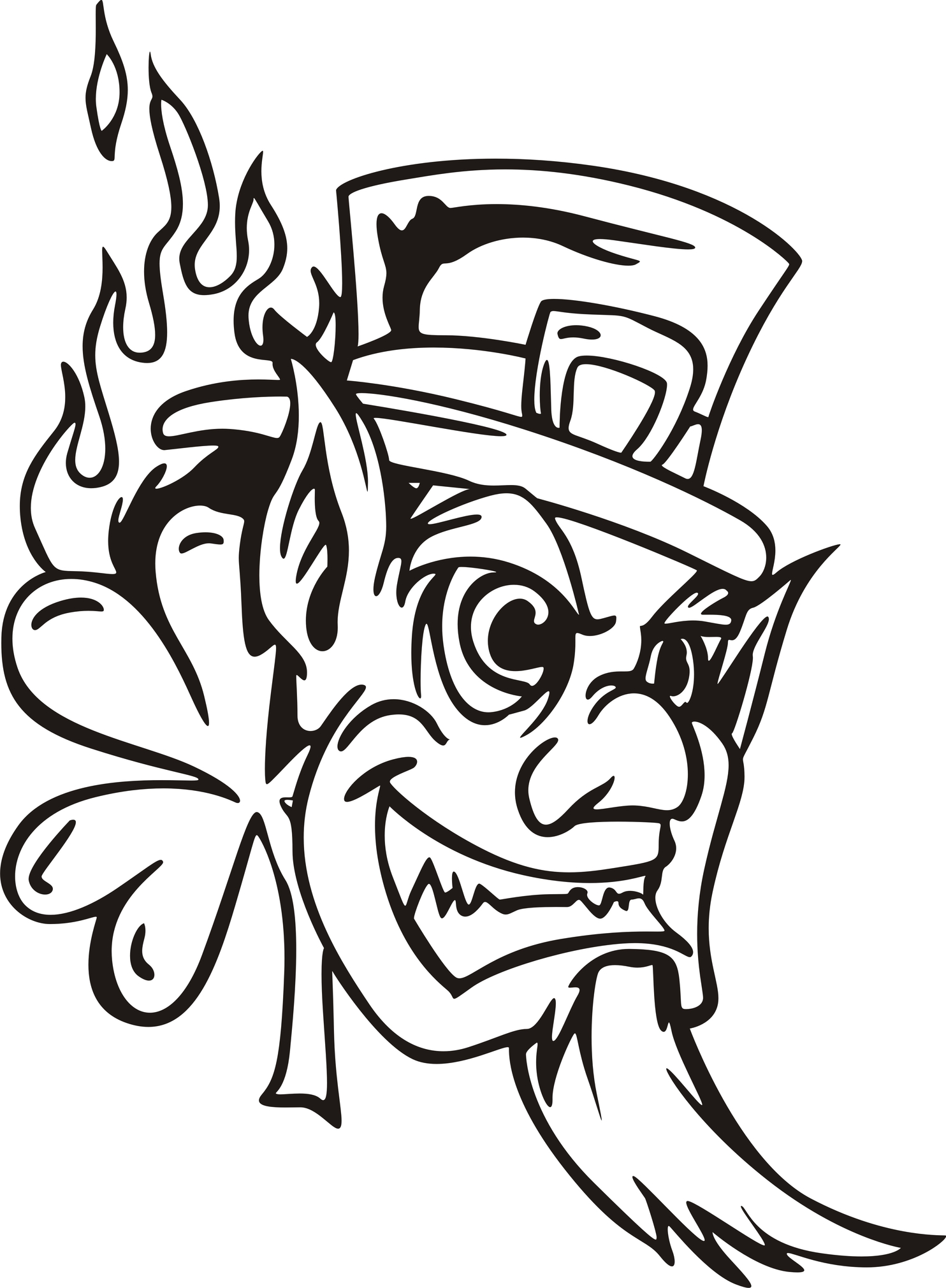 Evil Leprechaun Drawing