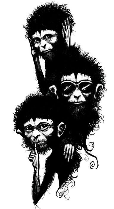 383x700 hear no, see no, speak no evil the three wise monkeys tattooze