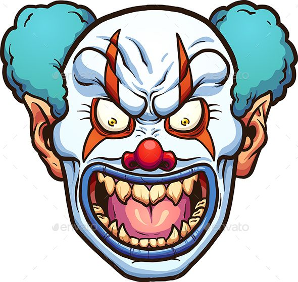 590x559 evil clown fonts logos icons evil clowns, fonts, illustration