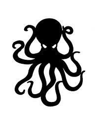 197x255 silhouettes octopus, octopus art, octopus