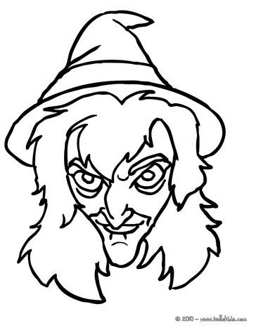 364x470 Scary Witch Face