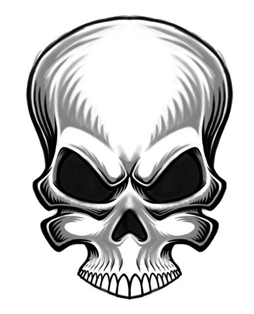 519x640 evil skull rough sketch deaths head skull, skull art, skull