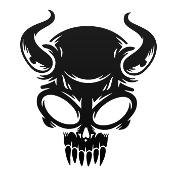 350x350 stickers factory decal evil skull stickers