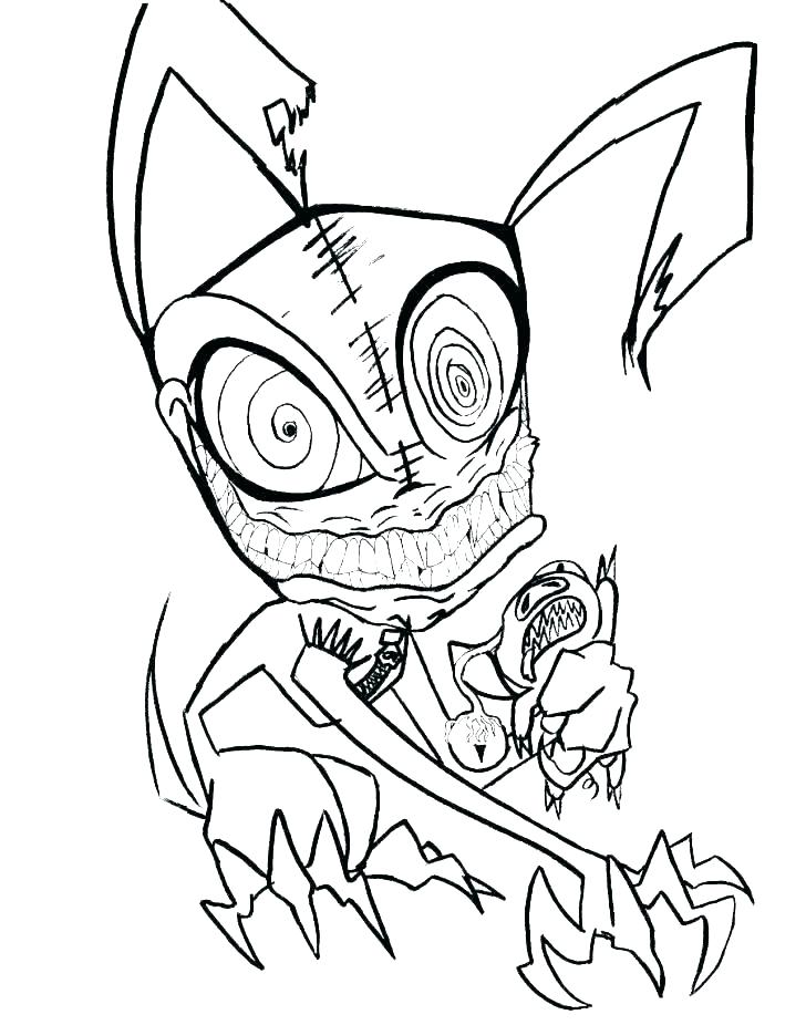 728x926 Evil Clown Coloring Pages Draw A Face Scary Playanamehelp
