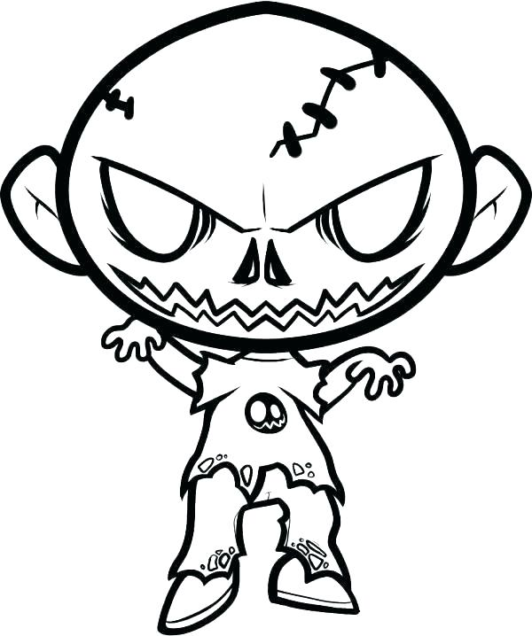 600x718 Scary Clown Drawing Simple Scary Clown Drawing