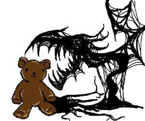 300x250 Evil Shadow Creature About To Eat A Teddy Bear