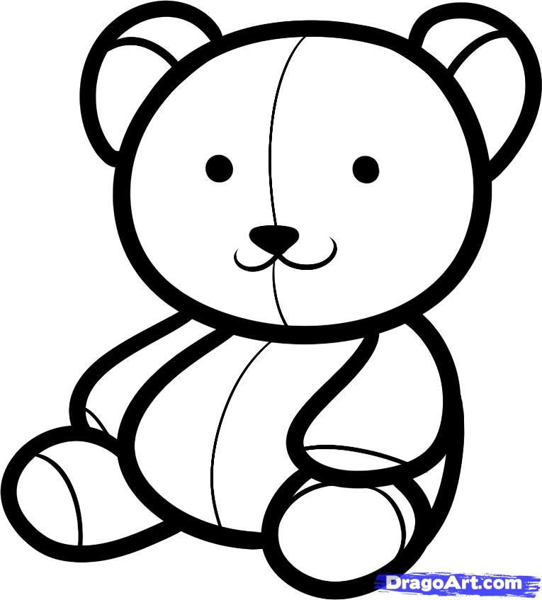 765x847 How To Draw A Teddy Bear For Kids, Step