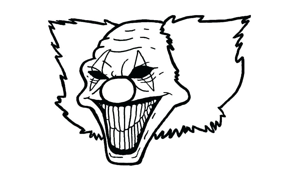 1024x604 Scary Clown Coloring Pages Scary Clown Coloring Pages For Adults