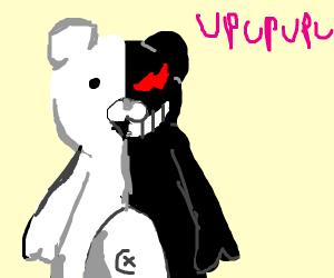 300x250 Half Good Half Evil Teddy Bear