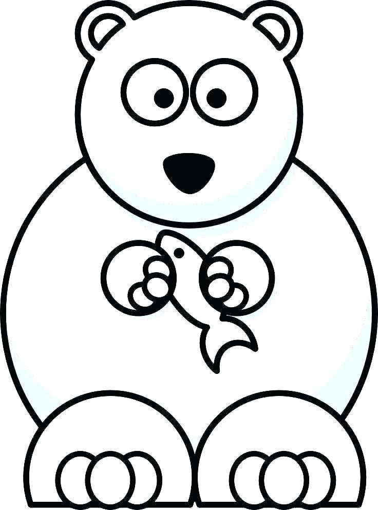 736x993 Cute Drawings Of Polar Bears Cute Polar Bear Holds A Sign Cute