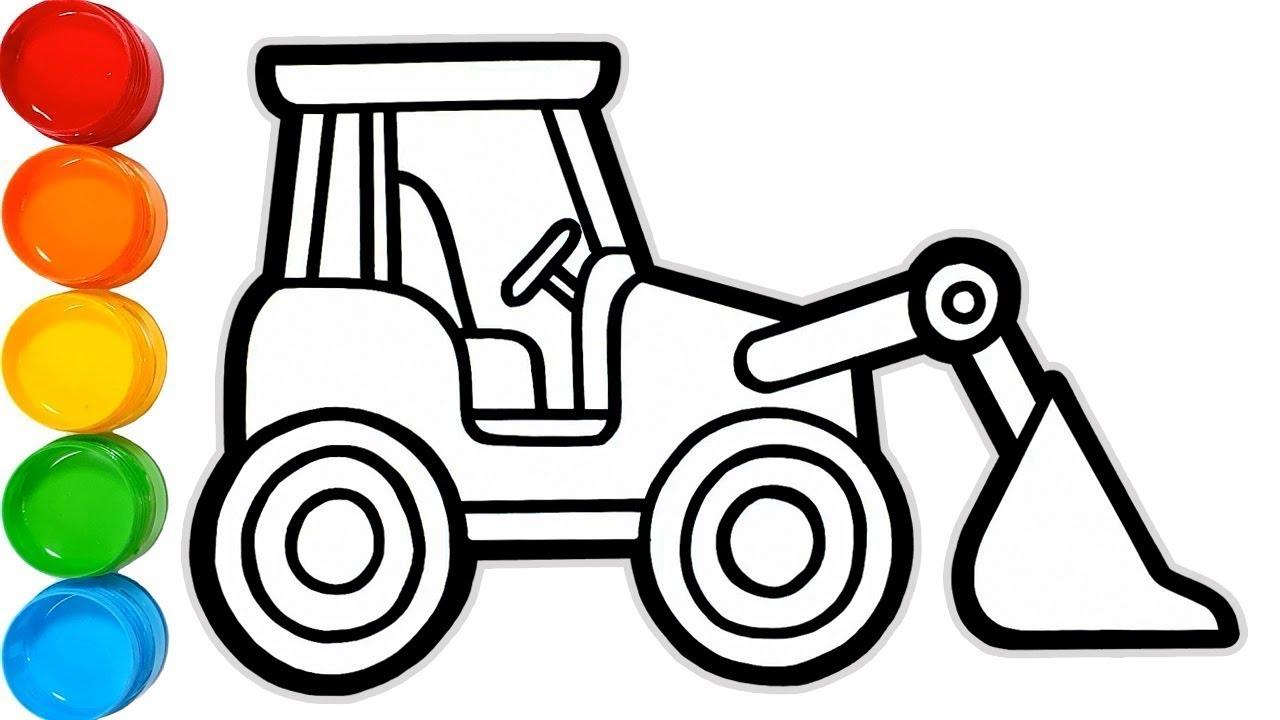 Excavator Drawing | Free download best Excavator Drawing on