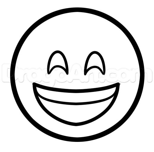 518x511 How To Draw Happy Emoji, Step
