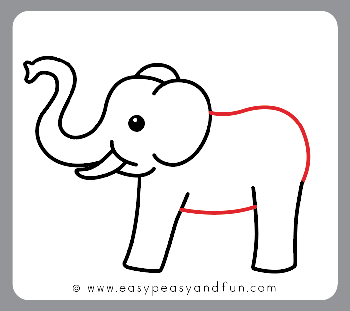 705x627 How To Draw An Elephant