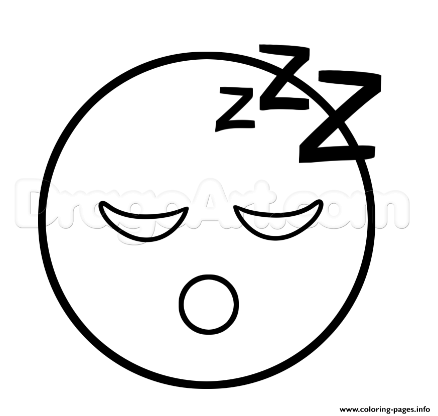 873x829 Print Emoji Sleep Sleepy Face Coloring Pages Kid's Craft Emoji