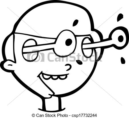 450x414 Cartoon Excited Boy's Face