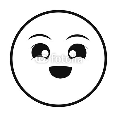 400x400 Excited Smiley Thin Line Emoticon Face Buy Photos Ap Images