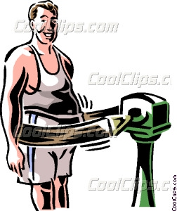 252x300 Man With Exercising Machine Vector Clip Art