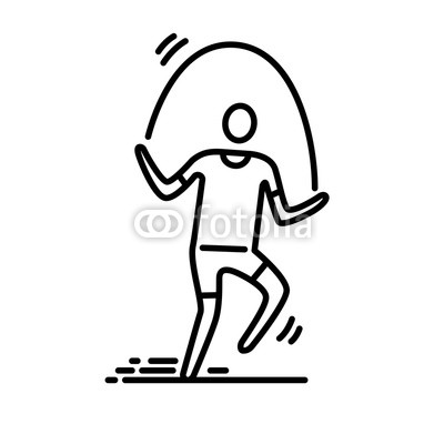 400x400 Thin Line Icon Man Exercising Skipping Rope Buy Photos Ap