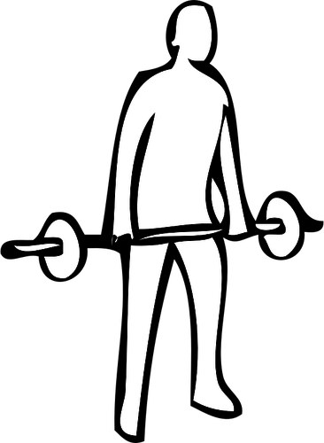 366x500 Weightlifting Exercise Instruction Vector Clip Art