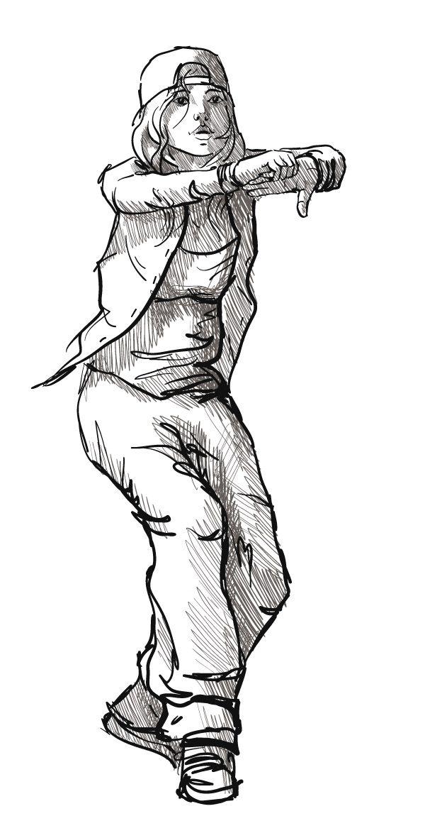 Exotic Dancer Drawing