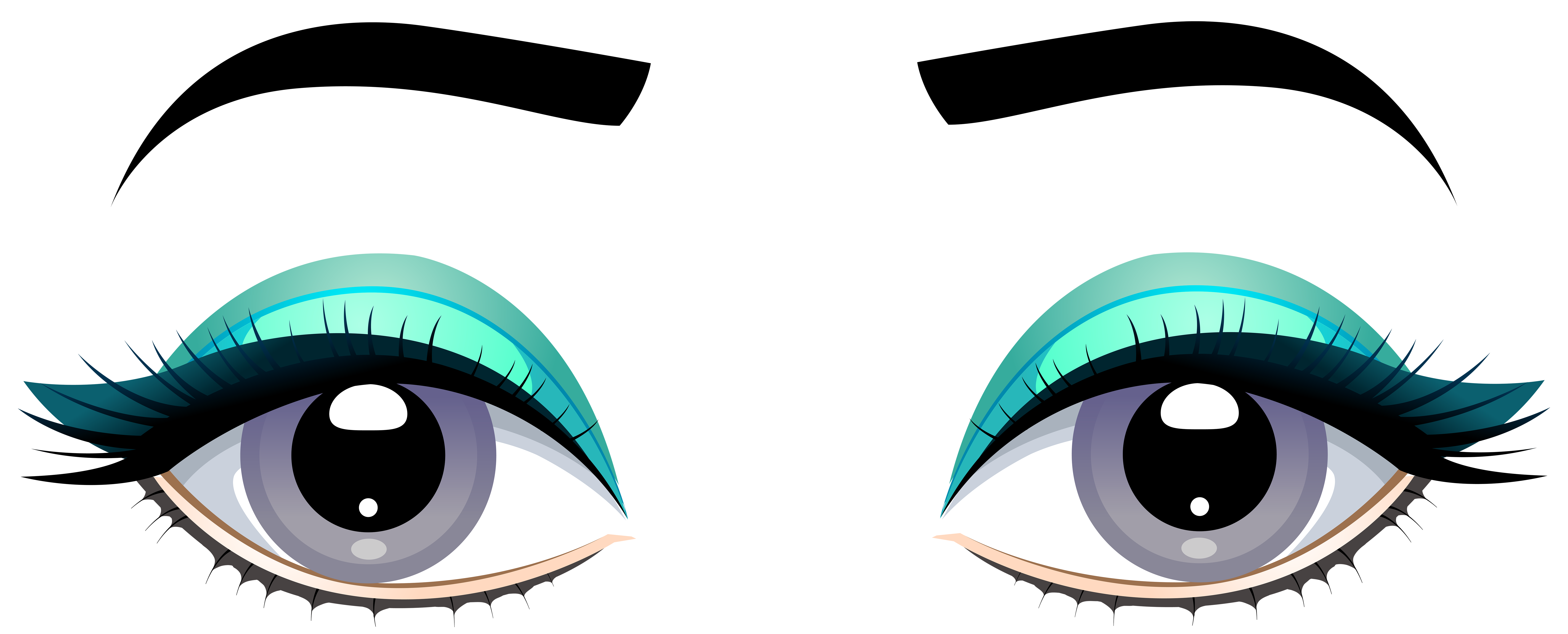8000x3233 Collection Of Free Eyebrow Drawing Right Eye Download On Ui Ex