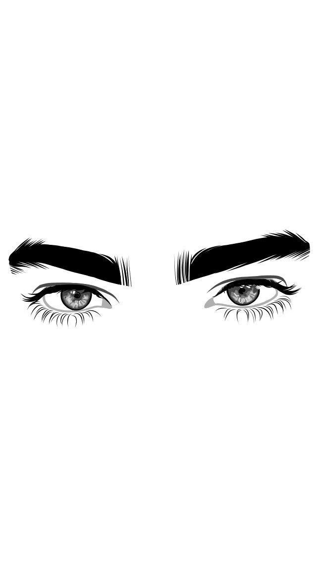 640x1136 Eyelashesnatural Eye Lashes Natural In Art, Outline