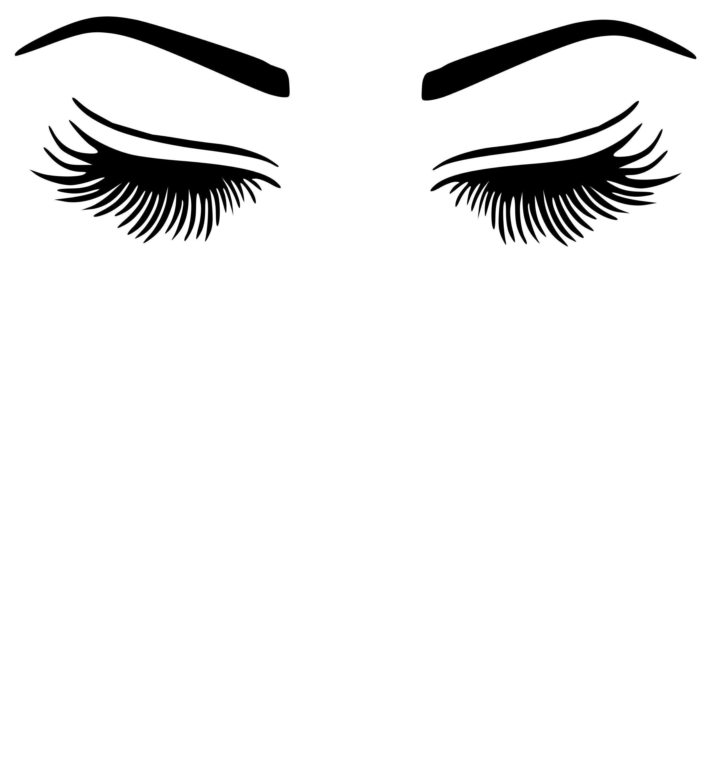 2480x2700 Eyelash And Eyebrow Vinyl Decal