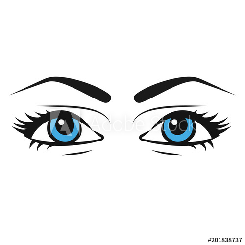 500x500 Female Eyes Beautiful Painted Woman Eyes In Sketch Style Veki
