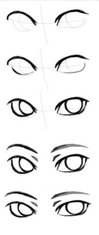 201x477 Simple Eye Guide Guides Drawings, Art Sketches, Drawing Tips