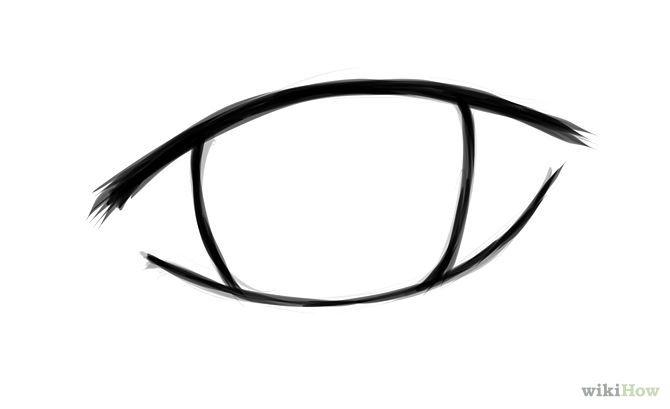670x409 Draw Simple Anime Eyes Art Tutorials Eye Drawing Simple, Anime