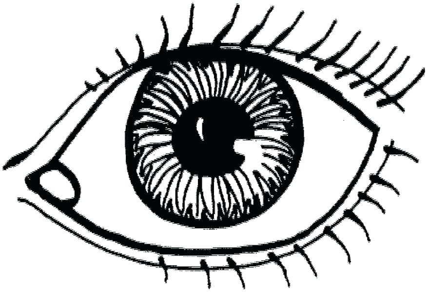 878x600 Eye Coloring Pages Drawing Pages Eye Eyeball Coloring