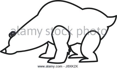 450x267 polar bear outline drawing sleeping bear outline sleeping bear