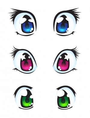 300x395 How To Draw Manga Eyes In Two Different Styles