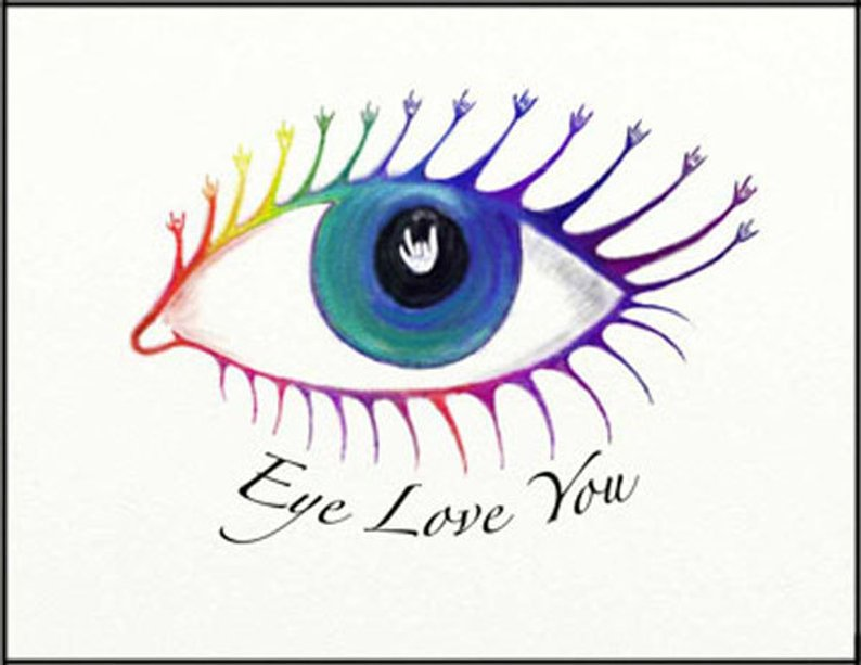 794x613 Eye Love You Greeting Card In Asl Etsy